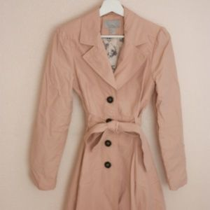H&M Blush Flare Trench Coat